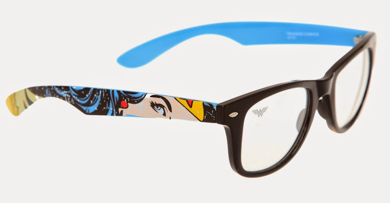 Wonder Woman Glasses from Hot Topic