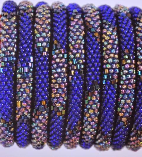 Rollover Blue Series Bead Bracelets