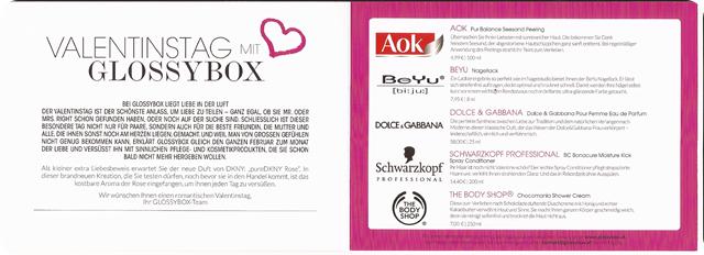 Glossybox Valentinstag