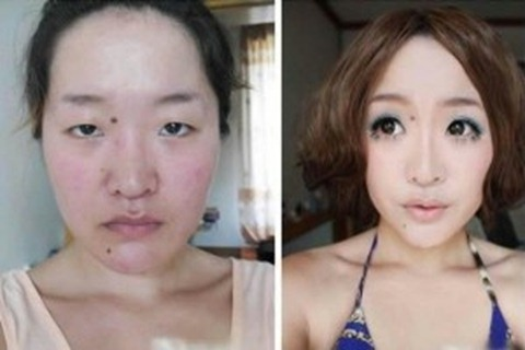 chinese girls makeup before and after  (29)
