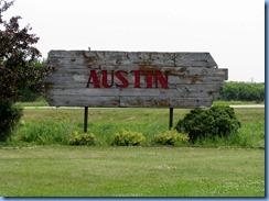 8368 Manitoba Austin - Austin sign