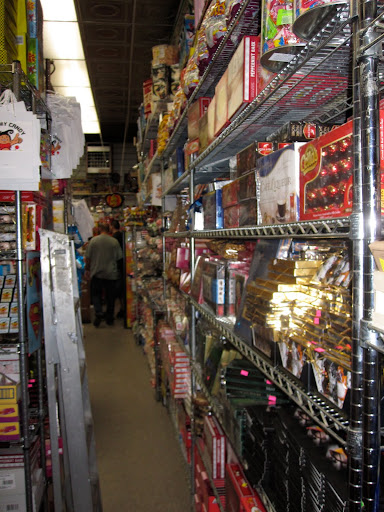 Shelves and shelves of candy.