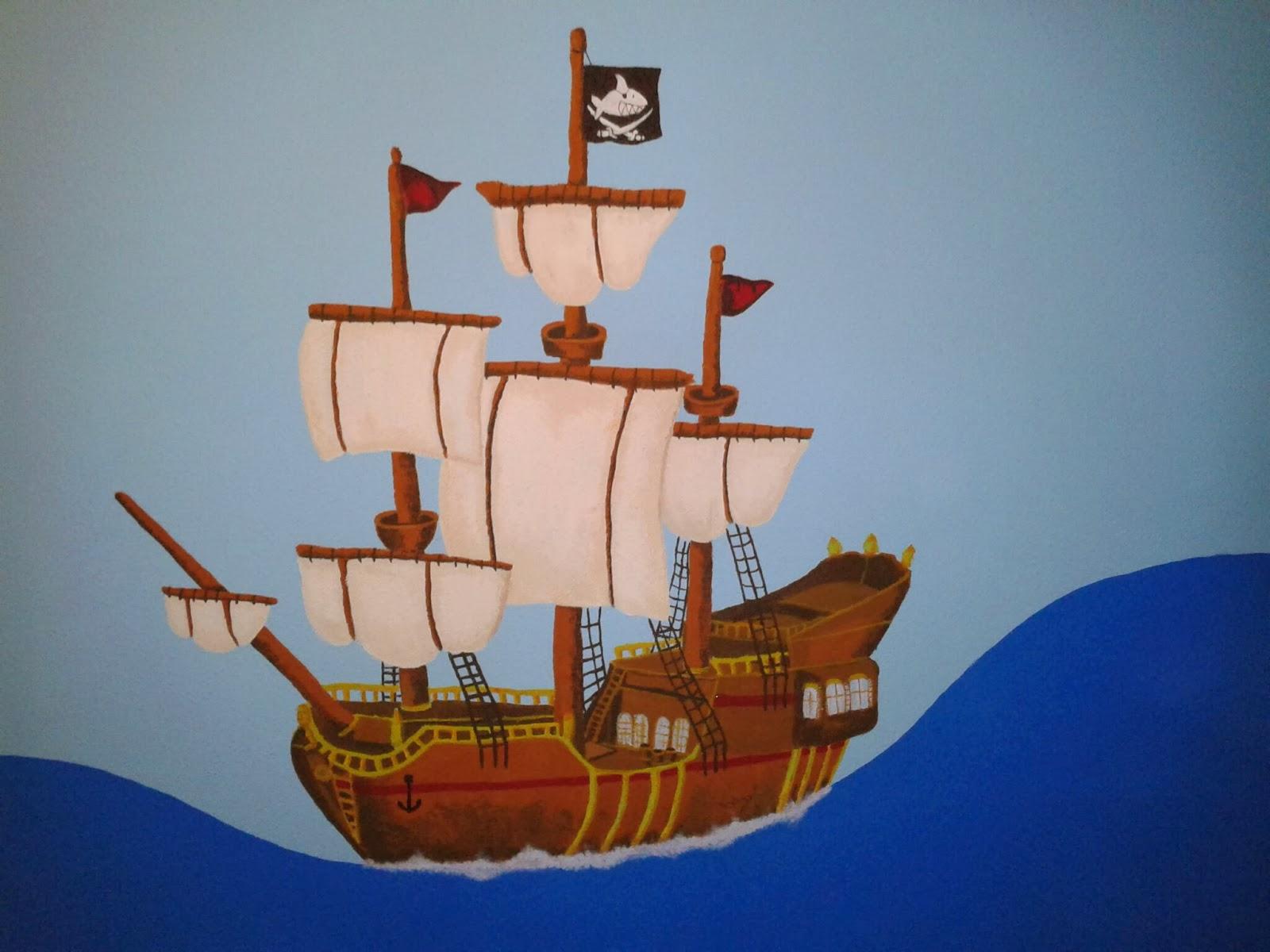 fadenfeuer ahoi piraten ein schiff im kinderzimmer. Black Bedroom Furniture Sets. Home Design Ideas