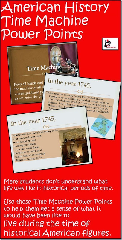 Time Machines for 9 different Amazing Americans throughout American History.  These resources were designed to help teachers meet the Georgia Performance Standards for 3rd grade Social Studies.  Download now from Raki's Rad Resources