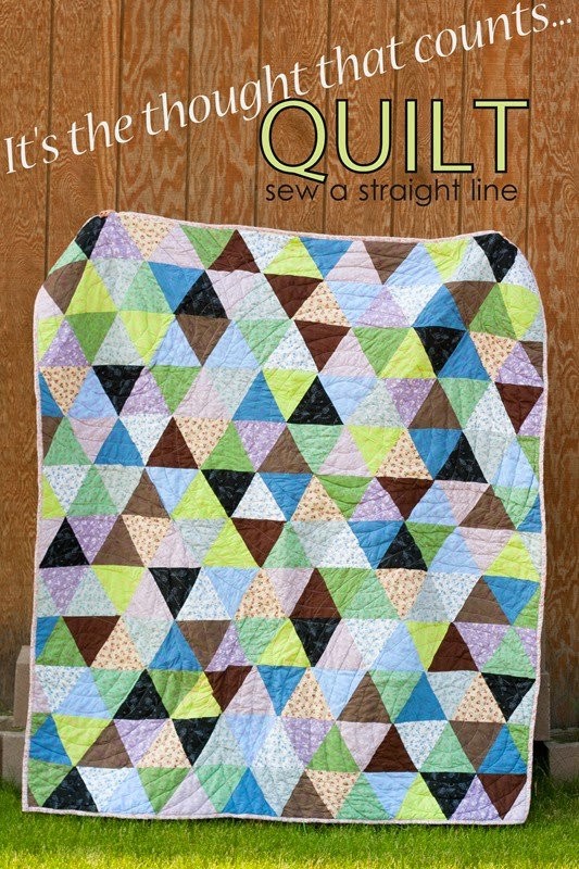 triangle quilt it's the thought that counts sew a straight line-1