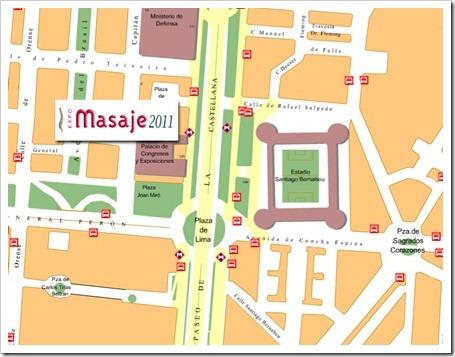 ExpoMasaje: VIII Congreso Internacional de Terapias Manuales en Madrid. Septiembre 2011 mapa localizacion