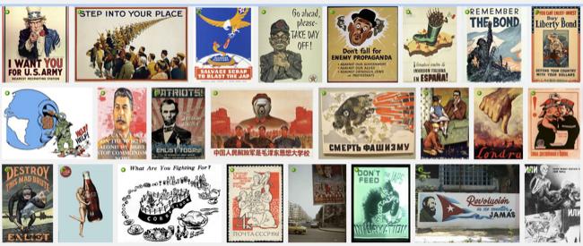 Subject is propaganda posters