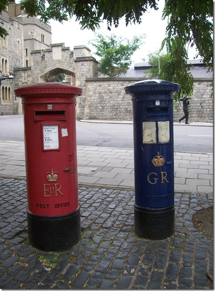Blue Post box