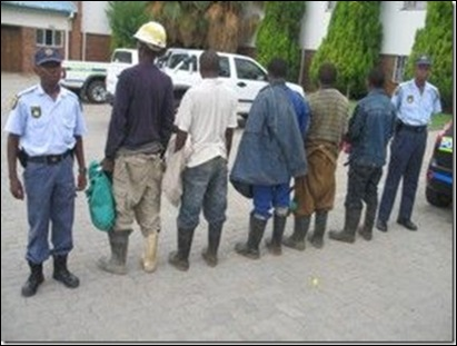 ILLEGAL GOLD MINERS ARRESTED ODENDAALSRUST