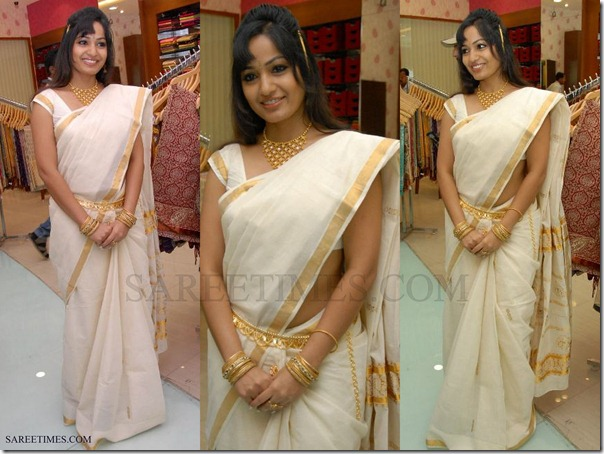 Madhavi_Latha_White_Traditional_Saree