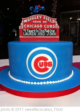 'Chicago Cubs Wrigley Field Groom's Cake' photo (c) 2011, sweetfacecakes - license: http://creativecommons.org/licenses/by/2.0/