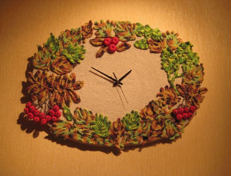 Вязаные часы - Вязание