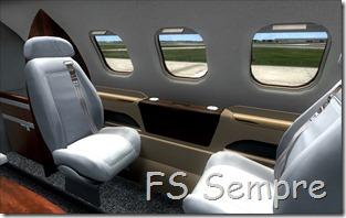 Até a cabine de passageiros é detalhada!