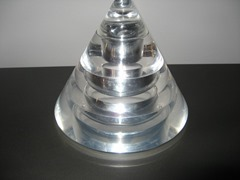 Stacking acrylic ashtray and lighter