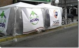 Instalan carpa de salud visual en San Bernardo