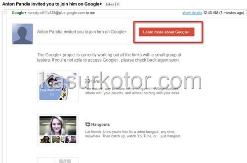Cara Daftar Google + (Plus)