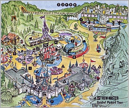 View-Master Fantasyland (A178), Map of Fantasyland