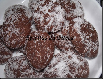 Broas de chocolate-perto