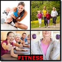 FITNESS- 4 Pics 1 Word Answers 3 Letters