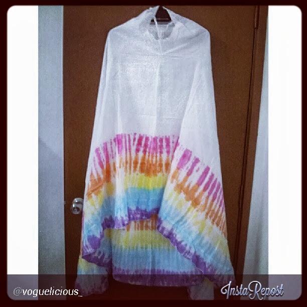 Tie dye dress n telekung tie dye dibuka untuk pemborong