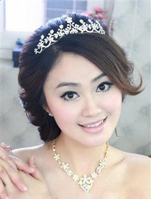 Nice Korean Bridal Hairstyle 2013
