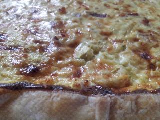 Quiche con pancetta emmental zucchini