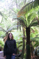 Mel in the fern forest