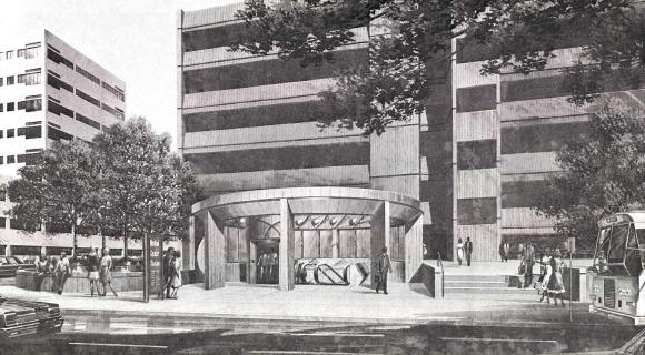 1984 CWE MetroLink station drawing