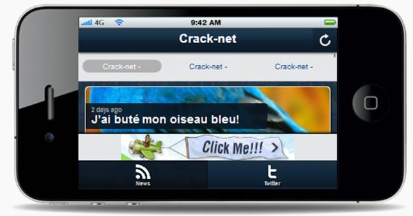 Créer gratuitement* une application mobile