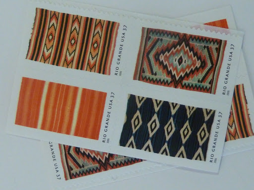 Don't forget you can incorporate pattern in your postage too! Here were some options from Champion Stamp.