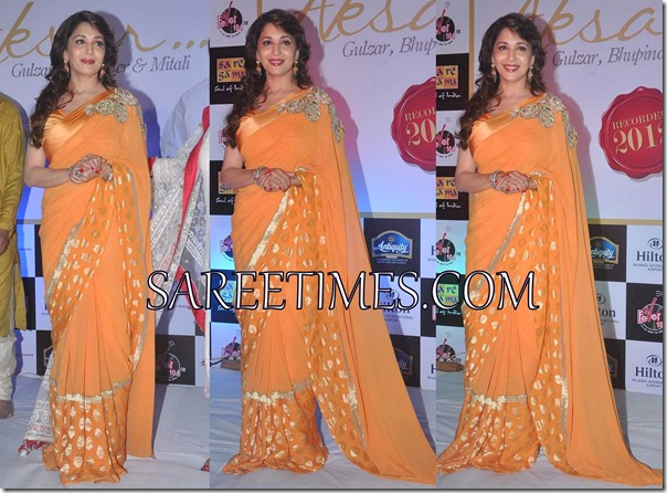Madhuri_Dixit_Orange_Saree