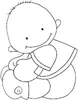 Baby04a Dibujos para calcar o colorear bebes