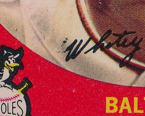 1959 Topps 411 Whitey Lockman variation