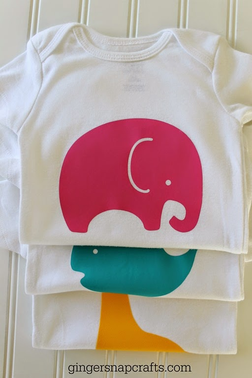 adorable baby animal onesies with SilhouetteAmerica.com at GingerSnapCrafts.com #SilhouetteCAMEO