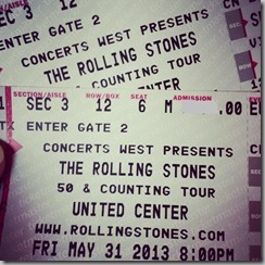 Stones tickets edit
