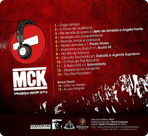 Mc K - Proibido Ouvir Isso (Capa - Back)