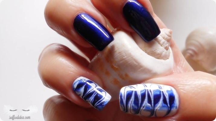 nail art - nailart - marble - soffiodidea - soffio di dea - onde -6a