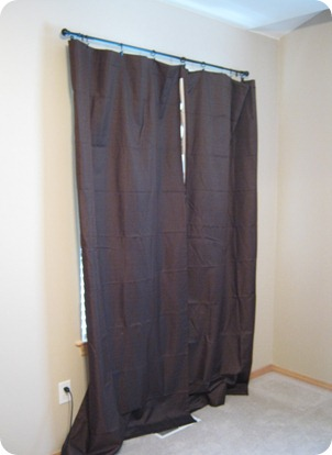 Curtains Ideas black out curtains walmart : This Thrifty House: Master Bedroom Curtains—Adding Grommets