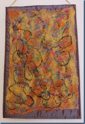 Wall hanging in fleece and thread #1