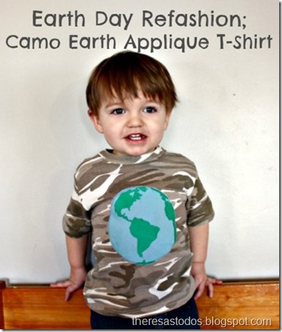 Camo Earth Applique Refashion