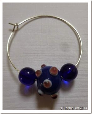beaded glass wine charm