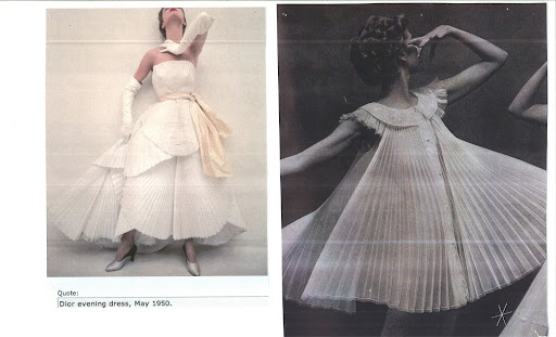 Two beautiful pleated dresses that inspired our pleated stationery suite.