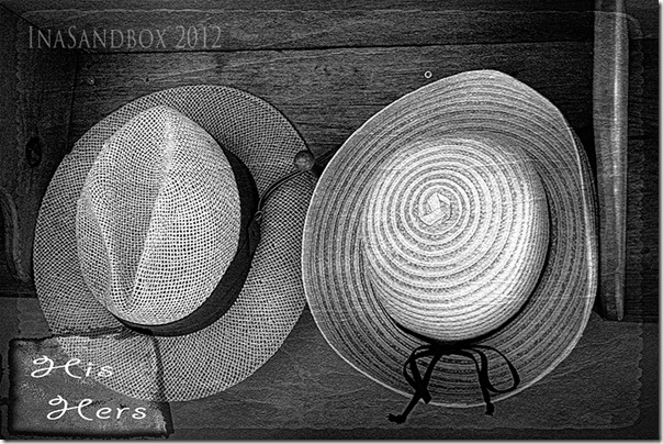His and Hers Hats in B&W