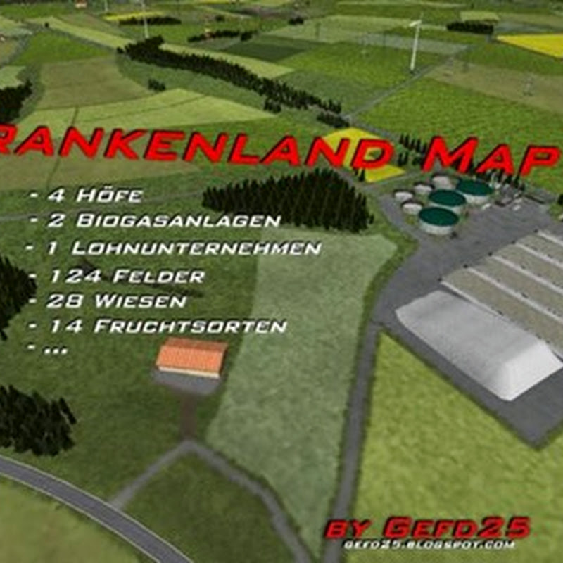 Farming simulator 2013 - Franconia Map v 2.0