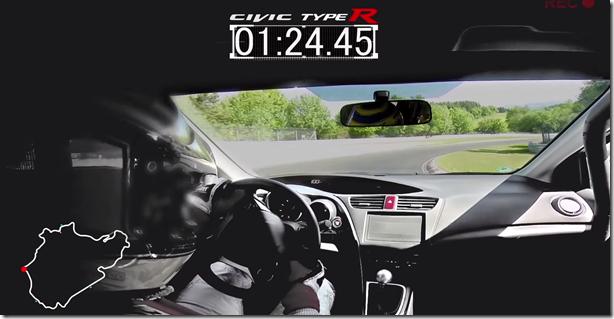 Vídeo: Honda Civic Type R bate recorde em Nürburgring