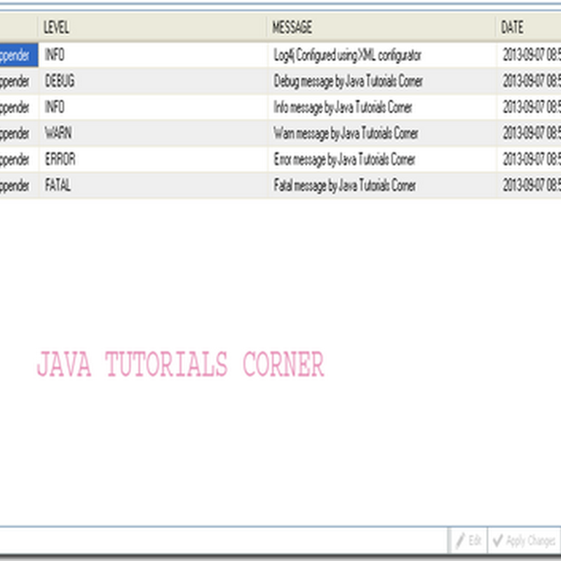 Log4j – JDBCAppender using XML configuration