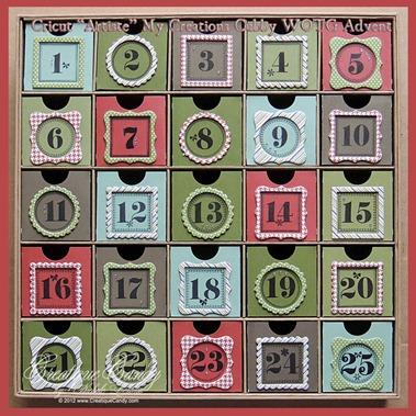 """Cricut """"Artiste"""" WOTG Advent Calendar"""