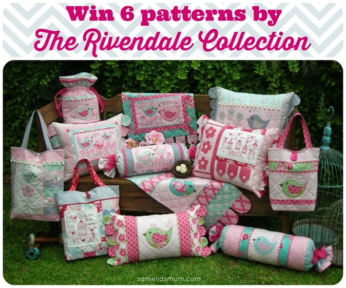 Win 6 patterns by The Rivendale Collection at sameliasmum.com