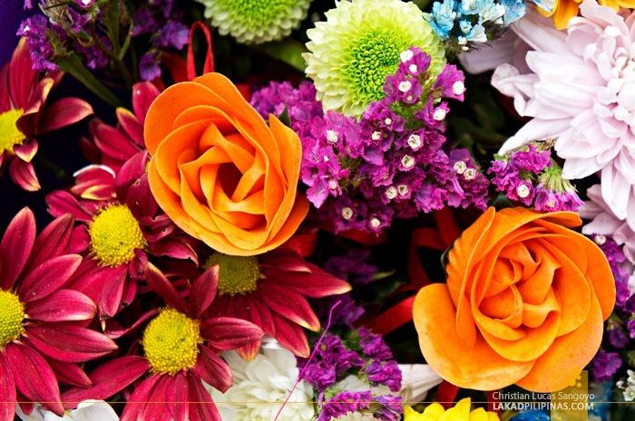 Fresh and Vibrant Flowers at Dangwa Flower Market in Manila