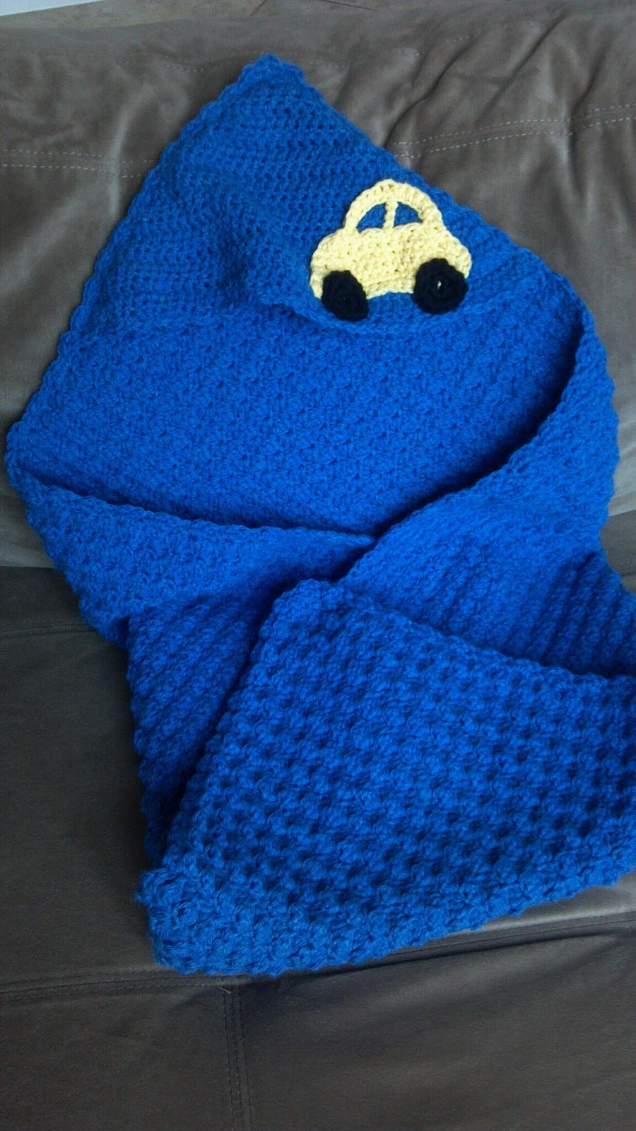 Crochet Pattern For Baby Blanket With Hood : Sincerely, Ree: Hooded Baby Blanket-Crochet